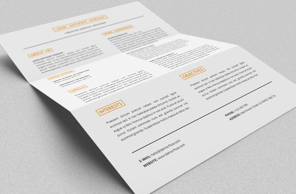 Free Resume template 06