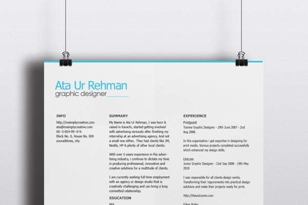 Free Resume template 08