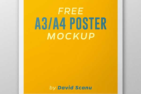 Free A3 A4 Poster Mock Up Designer Resource
