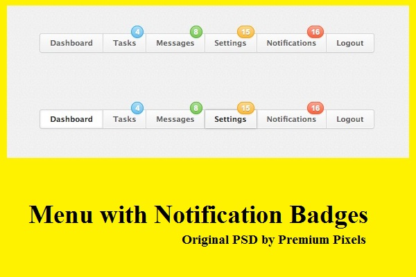 Menu with Notification Badges-2
