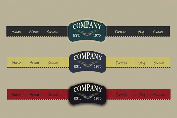 20 Free Amazing PSD Menus for Download