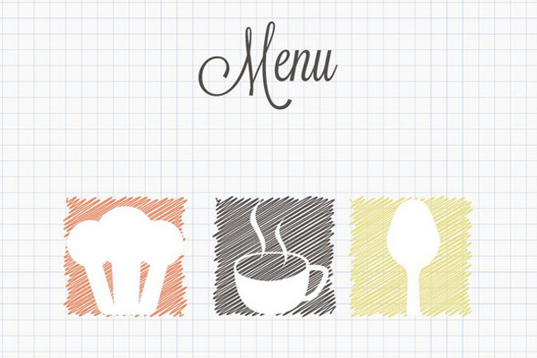 Free Vector of the Day #338 Doodle Restaurant Menu