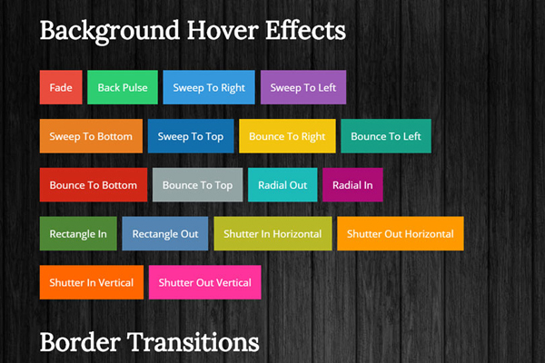 Css3 Link Hover Effects