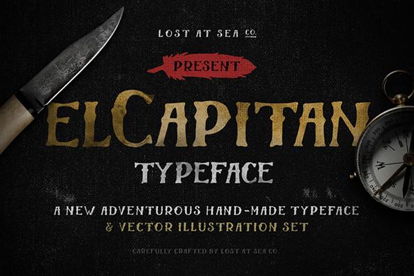 El Capitan Hand-Drawn Font