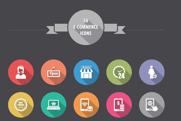 FLAT E-COMMERCE ICONS – FREE ICON PACK
