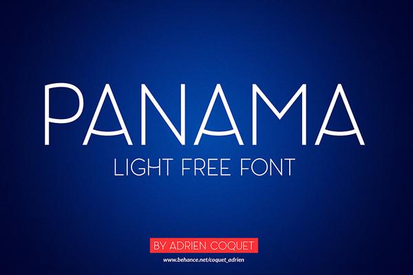 Free Font Panama Light