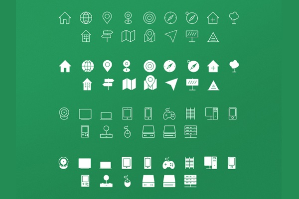 Mirrored Twins Icon Set