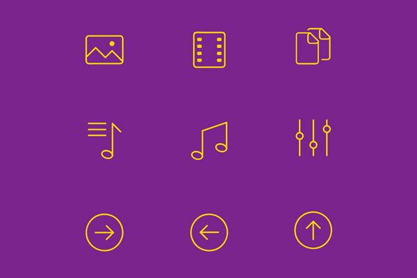 Simple Line Icons - Freebie - PSD Ai EPS SVG