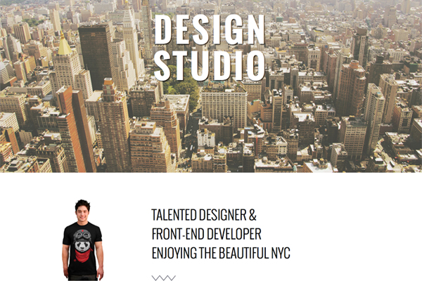 Studio – One Page Theme