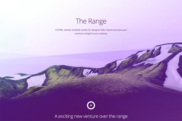 The Range Single Page Website Template Free PSD